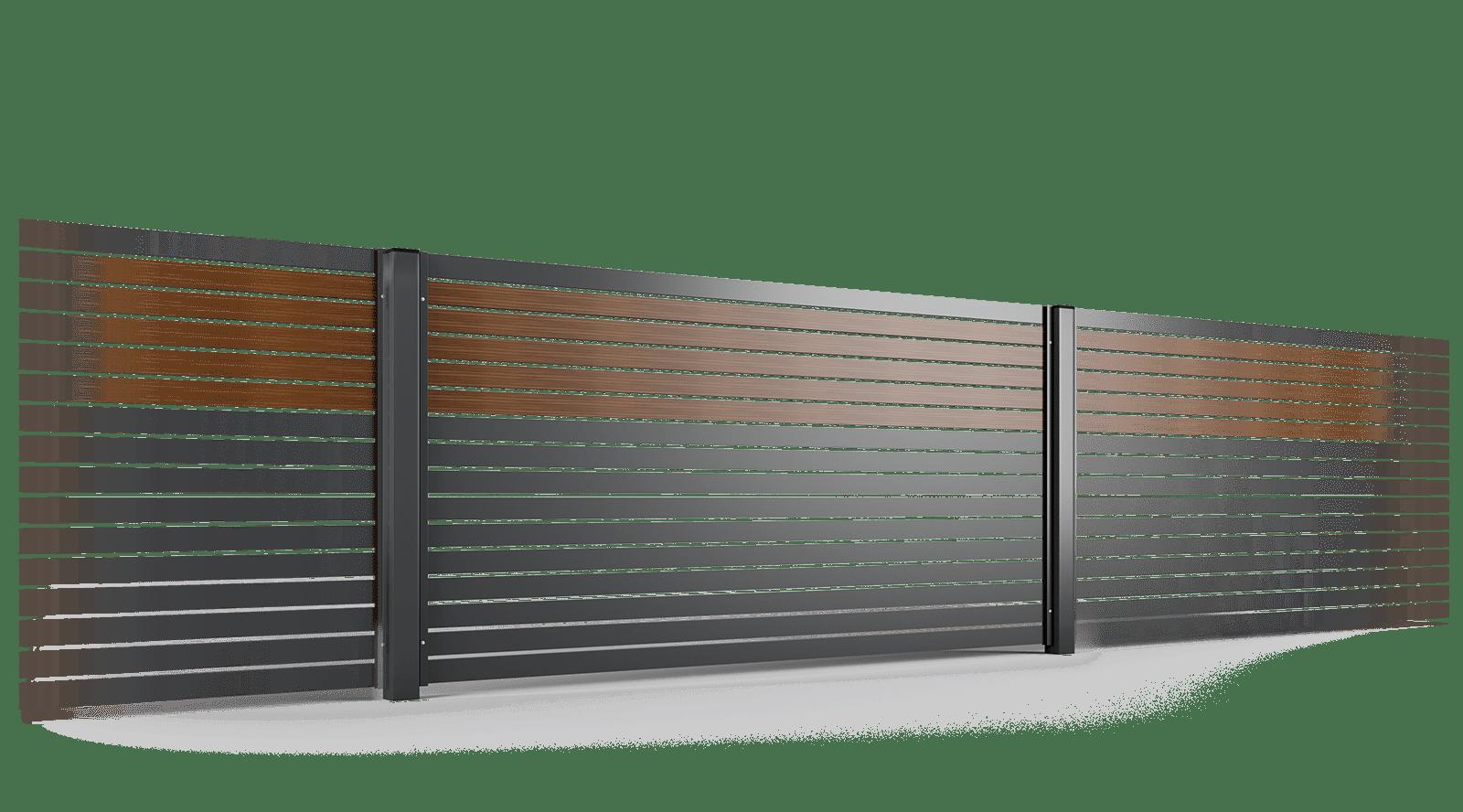 przęsło ogrodzenie palisadowe stylizowane PP 002 (P82) NOCE I BORDER KONSPORT
