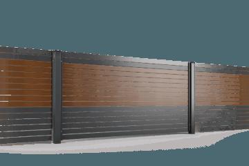 przeslo ogrodzenie palisadowe stylizowane PP 002 (P82) NOCE II BORDER KONSPORT