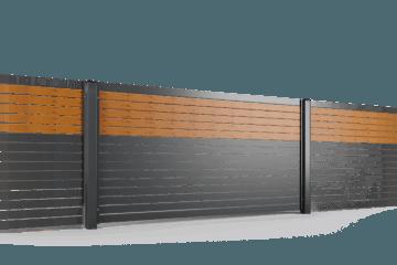 przeslo ogrodzenie palisadowe stylizowane PP 002 (P82) PINO I BORDER KONSPORT