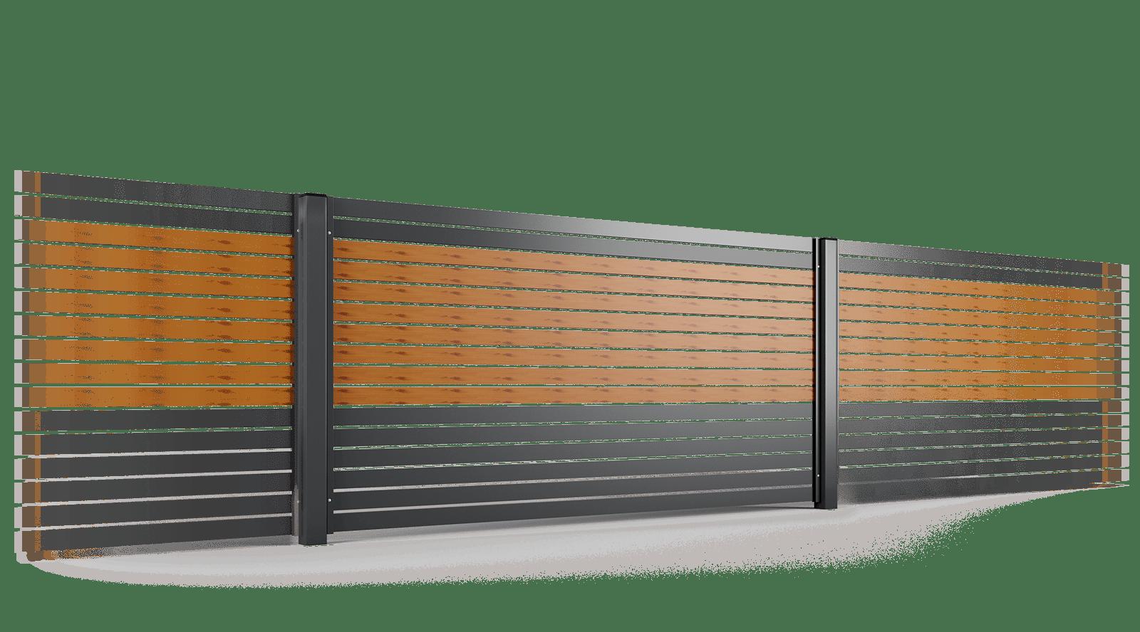 przeslo ogrodzenie palisadowe stylizowane PP 002 (P82) PINO II BORDER KONSPORT