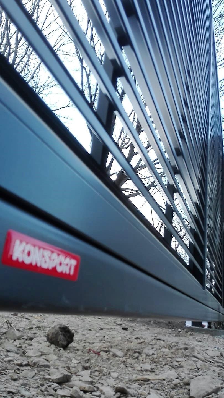 Brama i furtka palisadowa PS 004 żaluzja KONSPORT BORDER