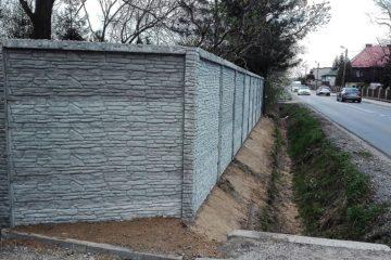 Ogrodzenie betonowe dwustronne (wzór z obydwóch stron) nowość na rynku BORDER