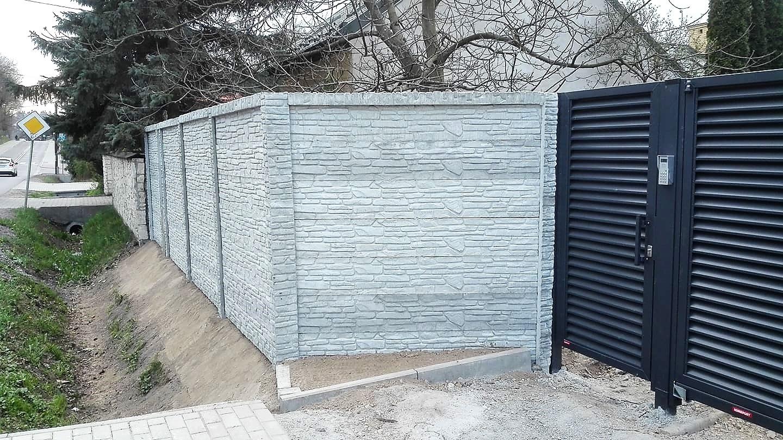 Ogrodzenie betonowe dwustronne (wzór z obydwóch stron) nowość na rynku BORDER 4
