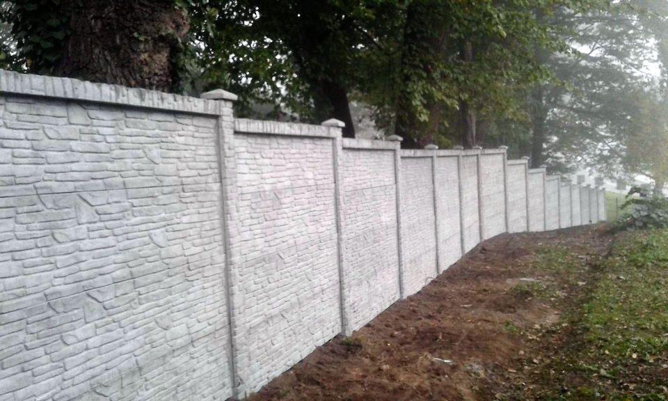 Ogrodzenie betonowe Wieliczka BORDER