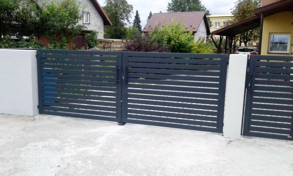 ogrodzenie frontowe z ustaka palisadowe BORDER