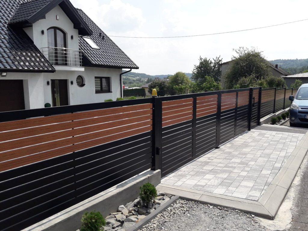 ogrodzenie palisadowe stylizowane KONSPORT BORDER 2
