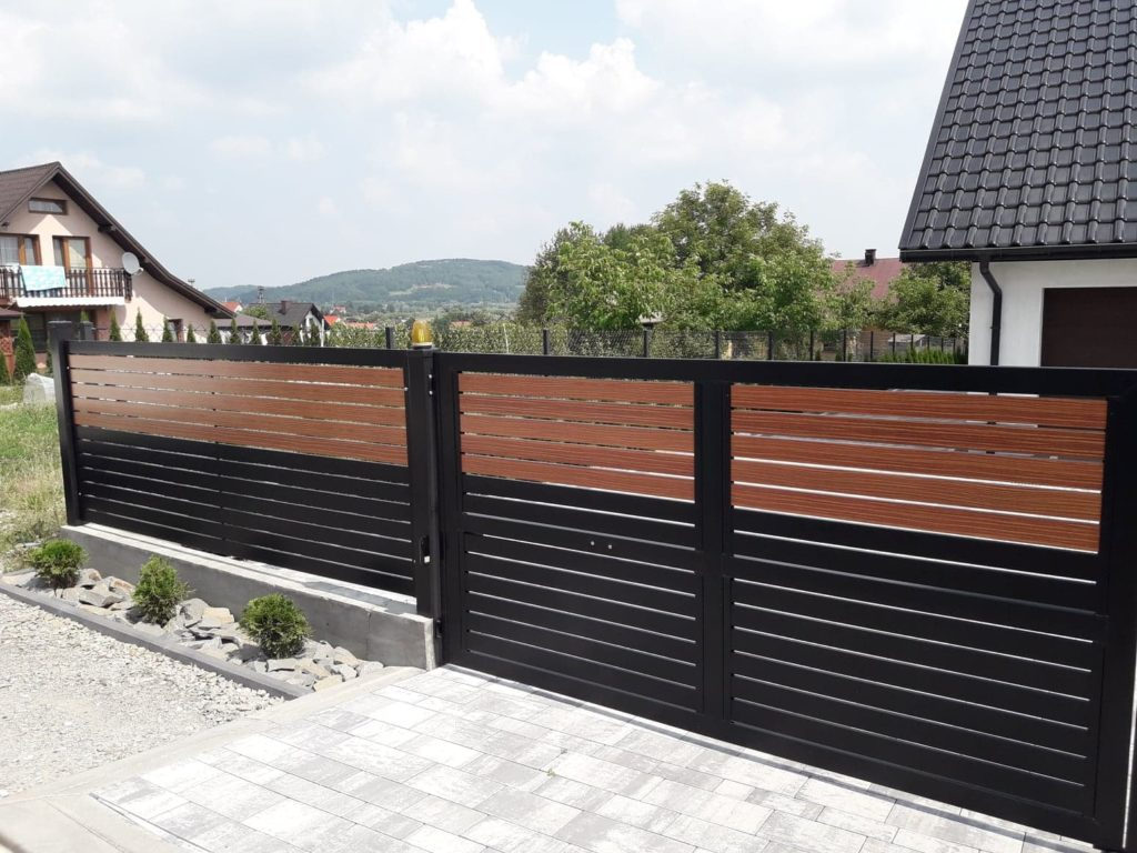 ogrodzenie palisadowe stylizowane KONSPORT BORDER 3