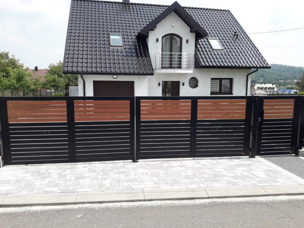 ogrodzenie palisadowe stylizowane KONSPORT BORDER 4