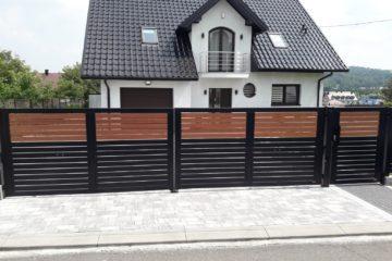 ogrodzenie palisadowe stylizowane KONSPORT BORDER