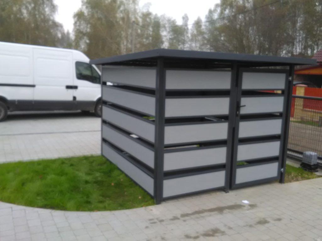 śmietnik z płyt XPS (KONSPORT) BORDER ogrodzenia