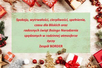 Radosnych świąt życzy BORDER