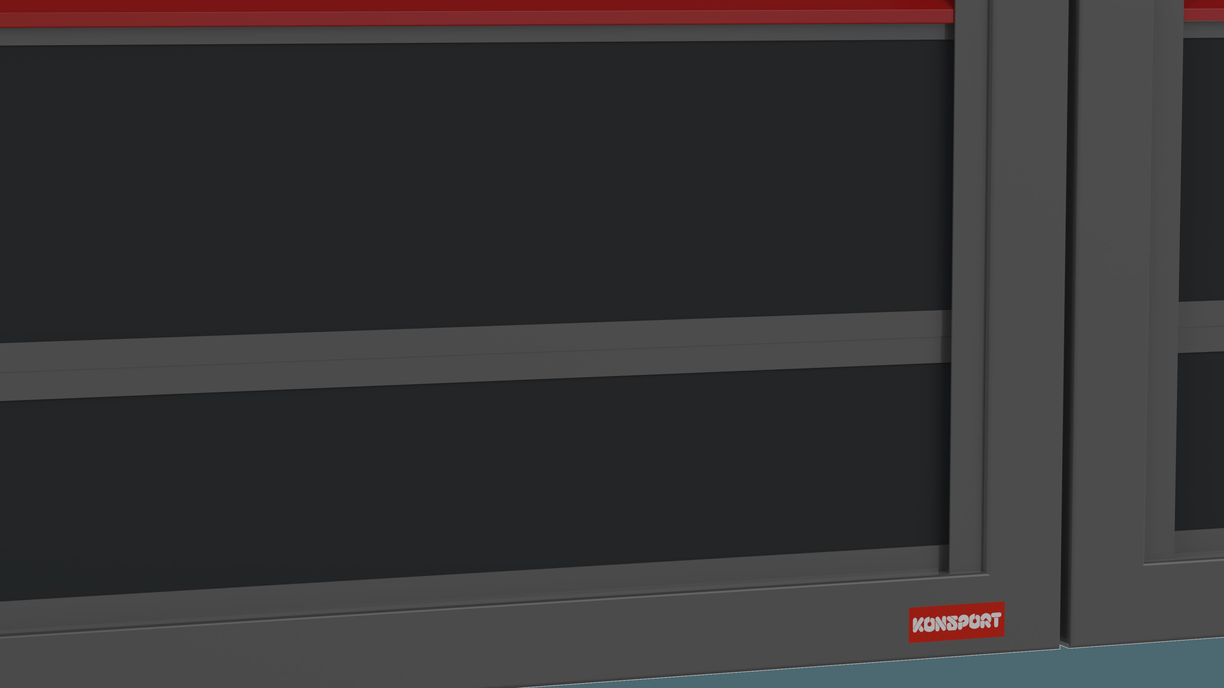 Ogrodzenie palisadowe modułowe PS005 P305 KONSPORT BORDER