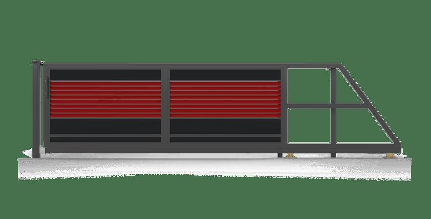 brama samonośna Ogrodzenie palisadowe modułowe PS005 P305 KONSPORT BORDER