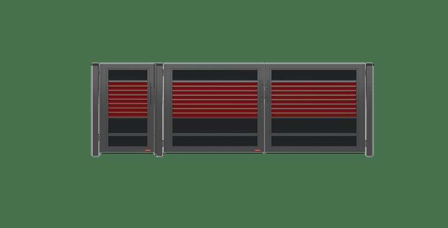 brama uchylna Ogrodzenie palisadowe modułowe PS005 P305 KONSPORT BORDER