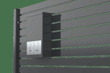 skrzynka na listy Ogrodzenie palisadowe KONSPORT BORDER