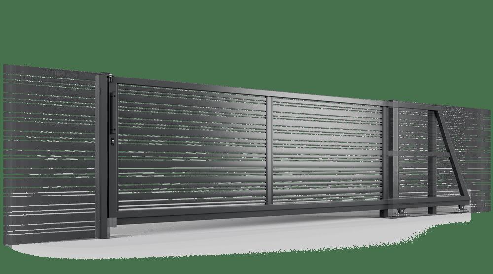 brama samonośna Ogrodzenie palisadowe PP002 DIVERSO KONSPORT BORDER