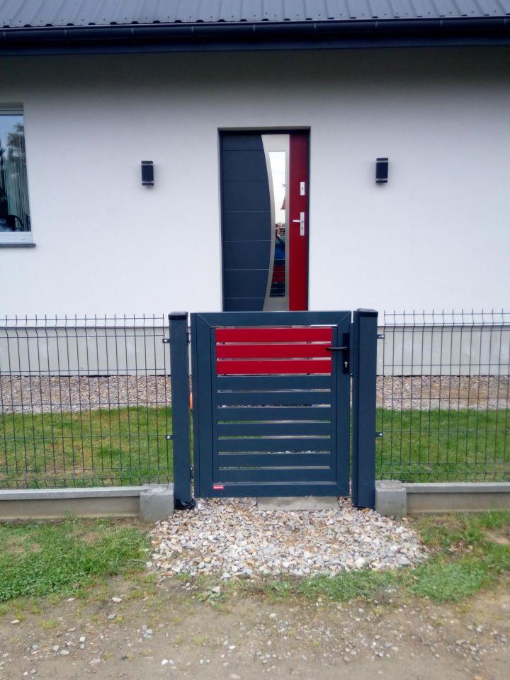 Ogrodzenie palisadowe stylizowane COLORE KONSPORT BORDER 2