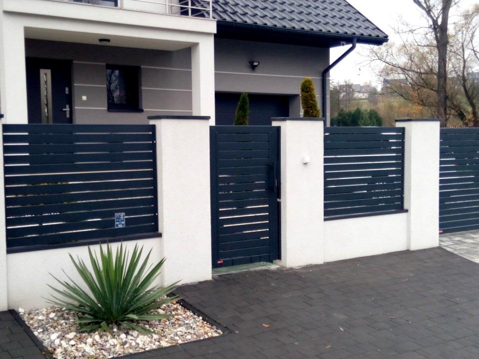 Ogrodzenie palisadowe KONSPORT P82 ogrodzenia BORDER automat FACC