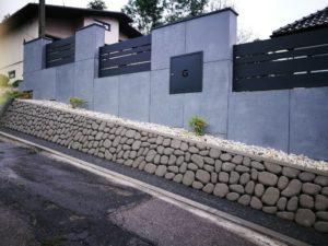 Płyty z betonu architektonicznego DECOBETON Ogrodzenie ALUgate 26