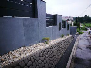 Płyty z betonu architektonicznego DECOBETON Ogrodzenie ALUgate 25
