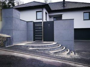 Płyty z betonu architektonicznego DECOBETON Ogrodzenie ALUgate 24