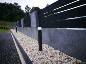 Płyty z betonu architektonicznego DECOBETON Ogrodzenie ALUgate 22