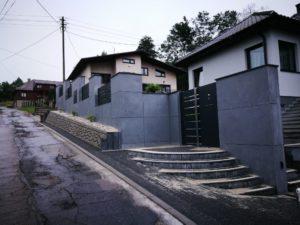 Płyty z betonu architektonicznego DECOBETON Ogrodzenie ALUgate 27